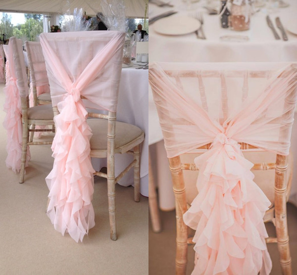 Sensational Chiffon Blush Pink Chair Cover Hoods With Willow Curly Beatyapartments Chair Design Images Beatyapartmentscom